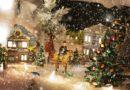 Visite d'un village de Noël tout illuminé
